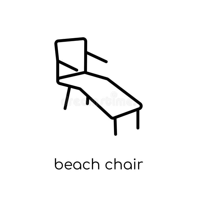 Symbol för strandstol från sommarsamling royaltyfri illustrationer
