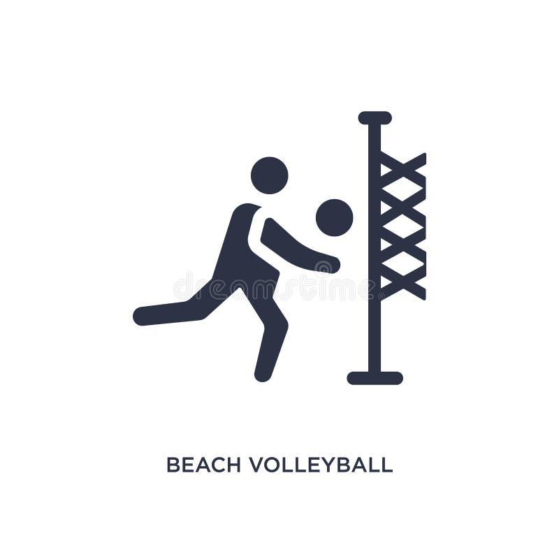 symbol för strandvolleyboll på vit bakgrund Enkel beståndsdelillustration från sommarbegrepp royaltyfri illustrationer