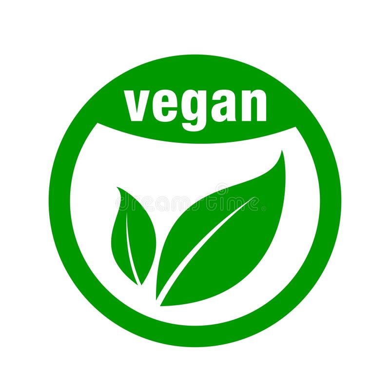 Symbol för strikt vegetarianmat stock illustrationer