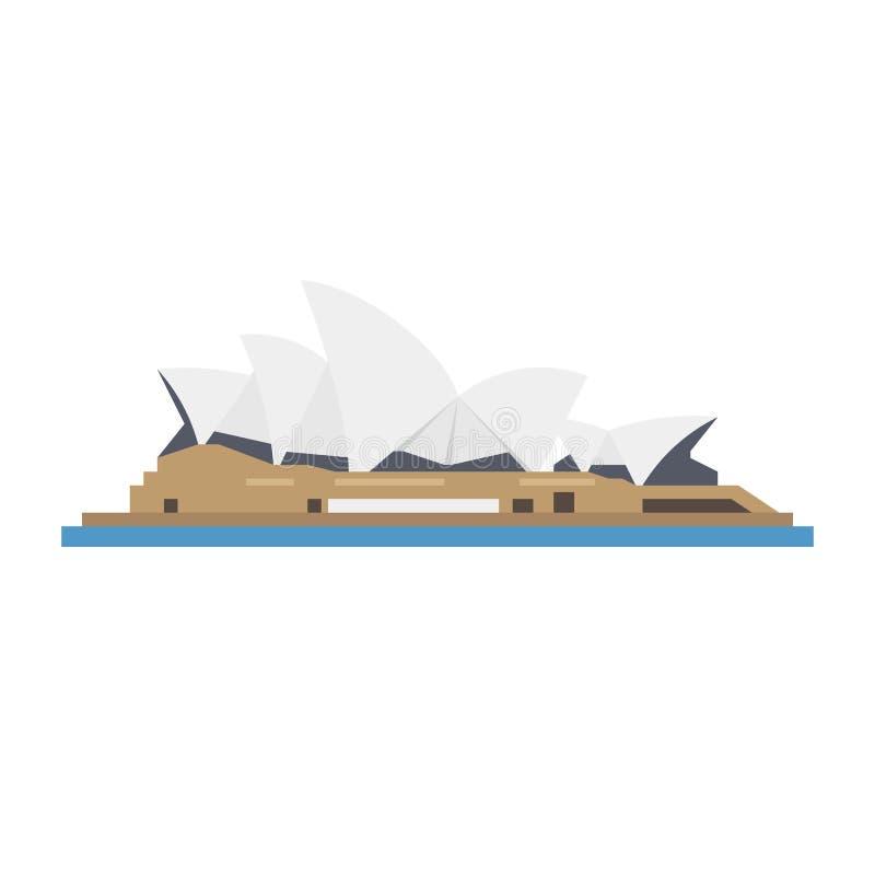Symbol för Sydney Opera plan designvektor vektor illustrationer