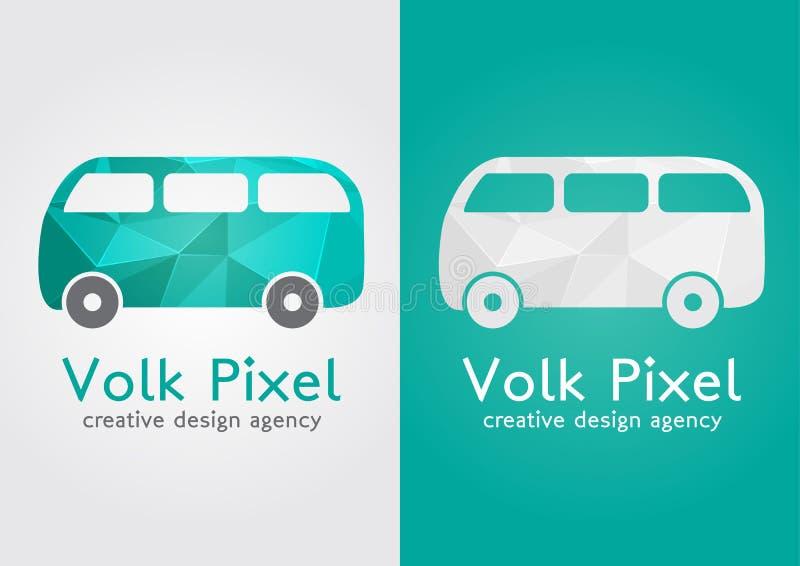 Symbol för symbol för Volk PIXEL idérikt Sött plant modernt vektor illustrationer