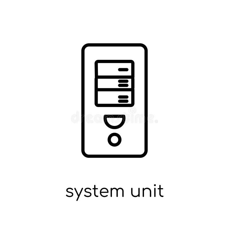 Symbol för systemenhet Moderiktig modern plan linjär vektorsystemenhet I vektor illustrationer