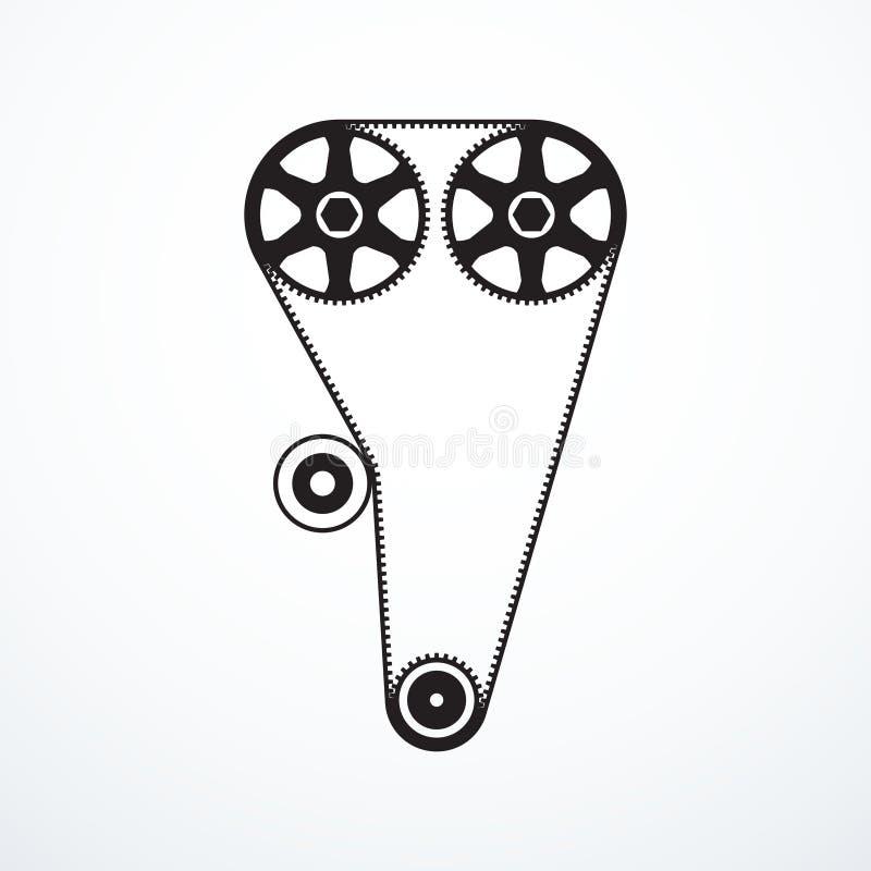 Symbol för tajmingbälte stock illustrationer