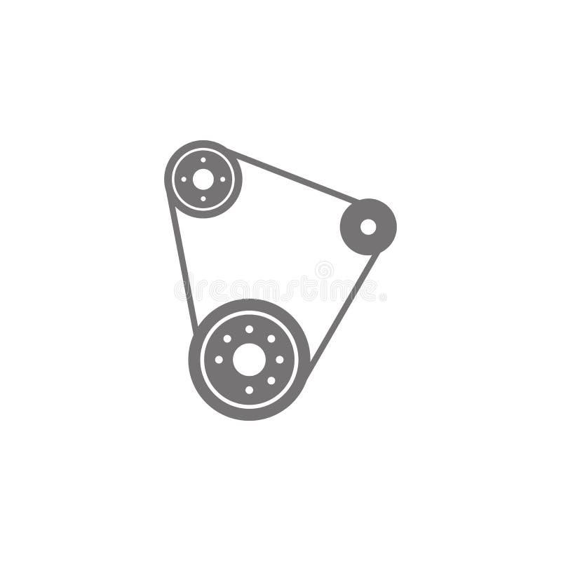 Symbol för tajmingbälte royaltyfri illustrationer