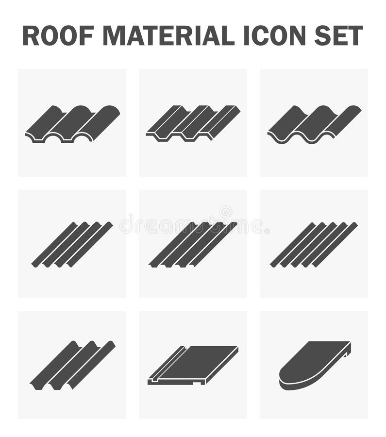 Symbol för taktegelplatta stock illustrationer