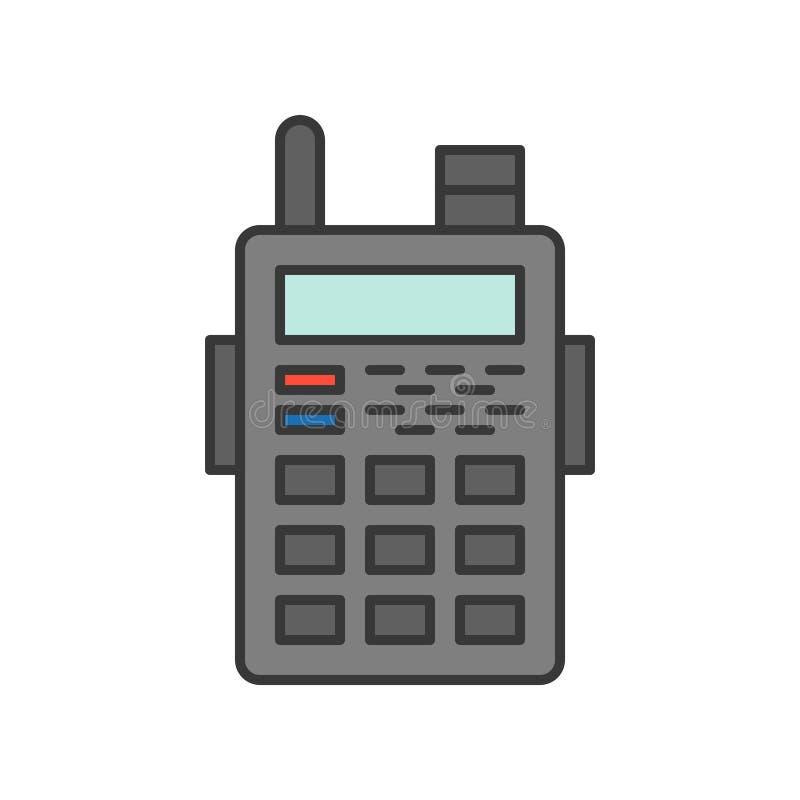 Symbol för talkie för polisradiowalkies, släkt symbol redigerbart s för polisen stock illustrationer