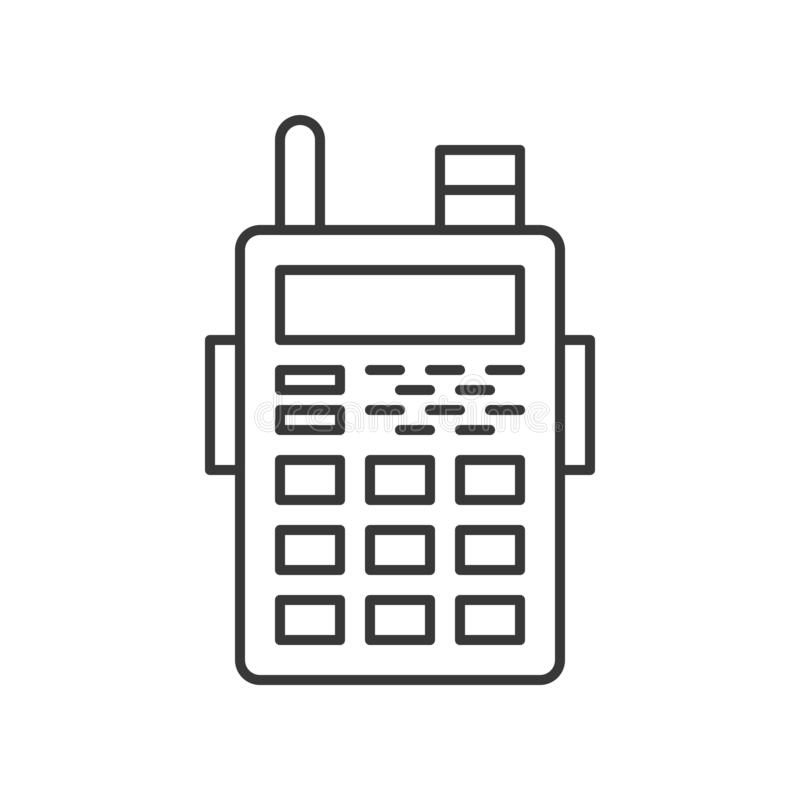 Symbol för talkie för polisradiowalkies, släkt symbol redigerbart s för polisen vektor illustrationer