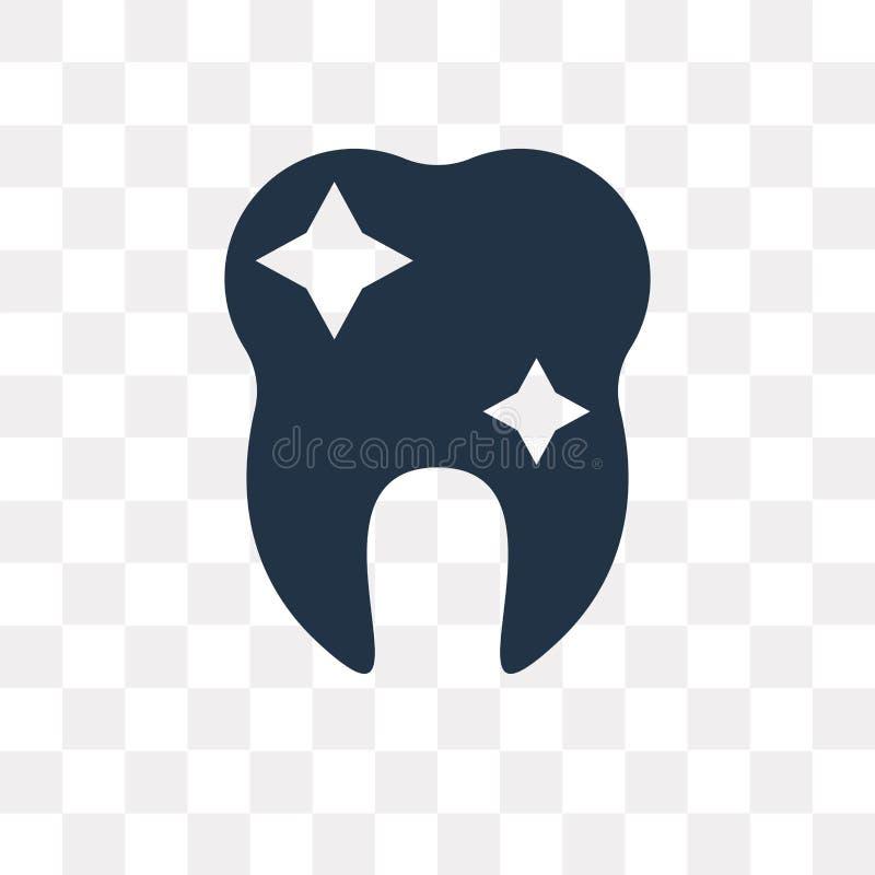 Symbol för tandblekmedelvektor som isoleras på genomskinlig bakgrund, royaltyfri illustrationer
