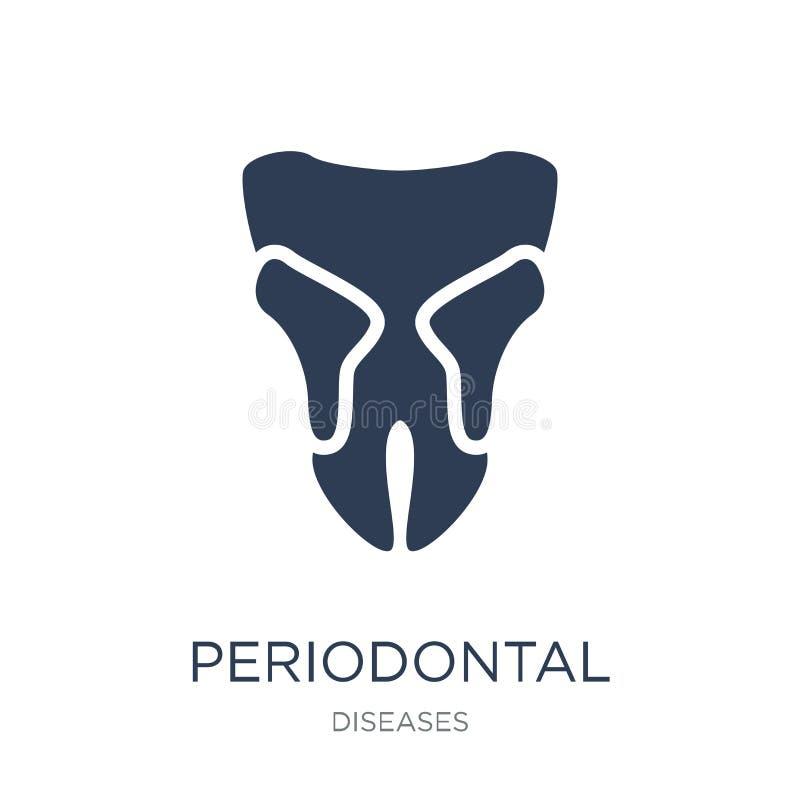 Symbol för tandrot- sjukdom Tandrot- sjukdom för moderiktig plan vektor royaltyfri illustrationer