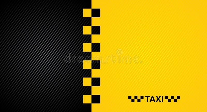 Symbol för taxitaxi stock illustrationer