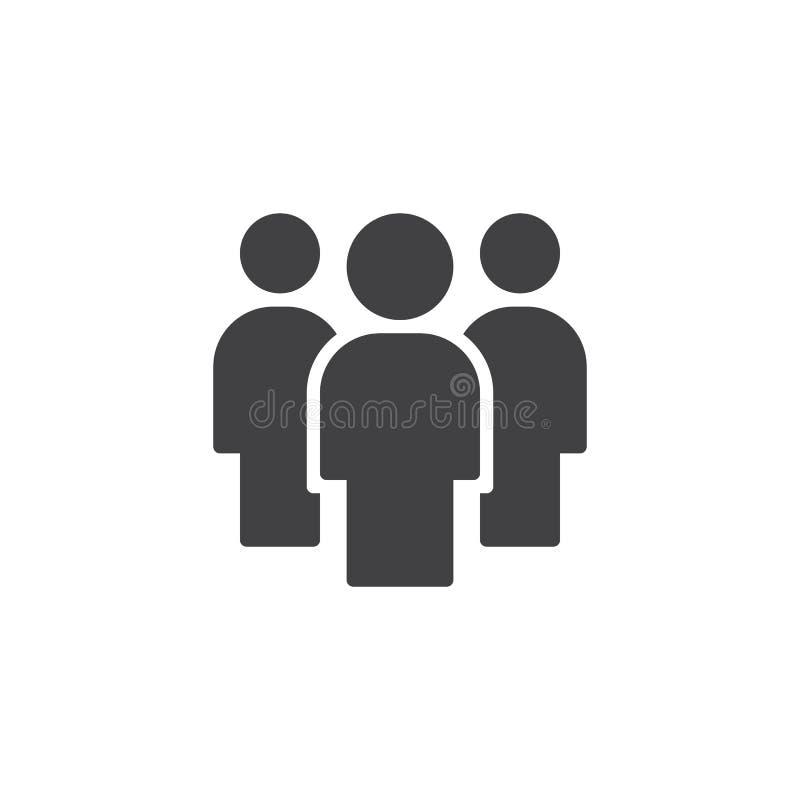 Symbol för teamworkfolkvektor stock illustrationer