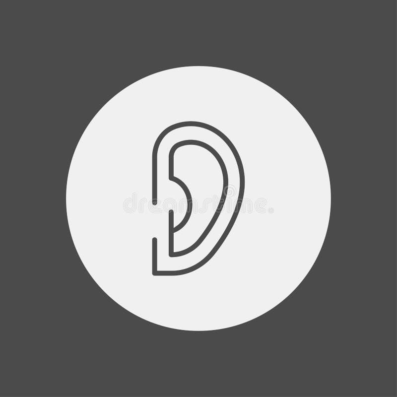 Symbol för tecken för öravektorsymbol stock illustrationer