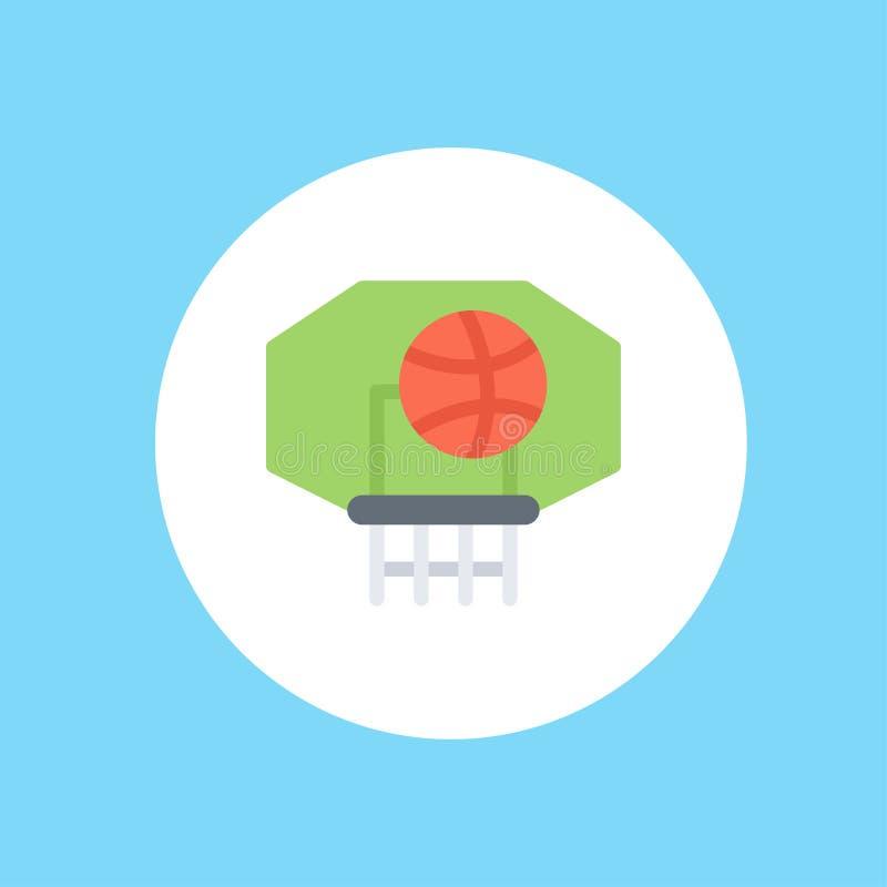 Symbol för tecken för basketvektorsymbol vektor illustrationer