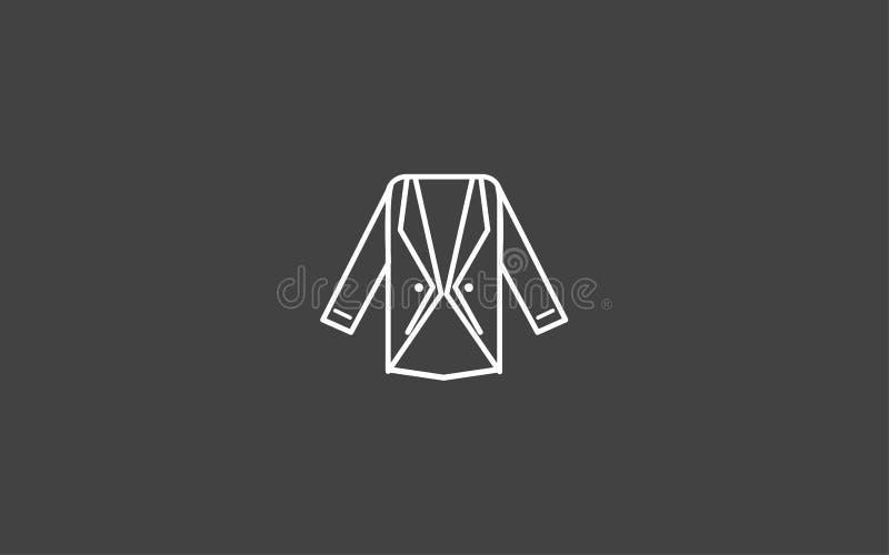 Symbol för tecken för blazervektorsymbol royaltyfri illustrationer