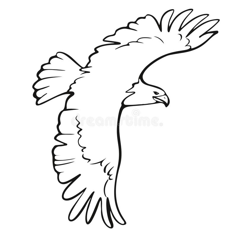 Symbol för tecken för Eagle symbol illustration isolerat royaltyfri illustrationer