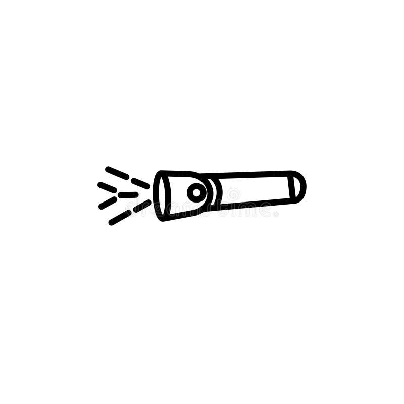 Symbol för tecken för ficklampasymbolsvektor vektor illustrationer