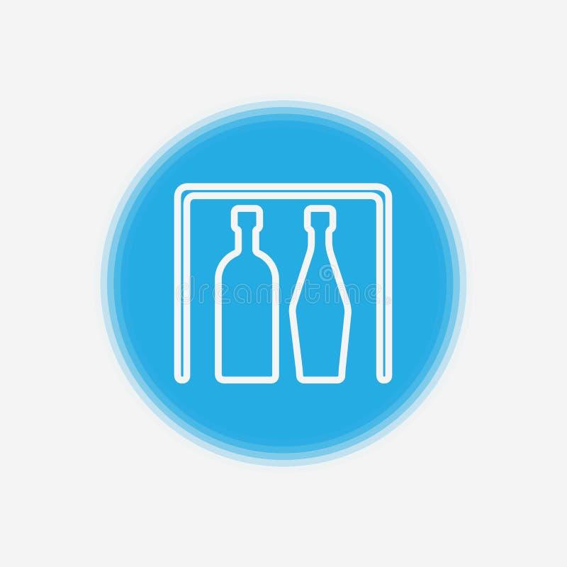 Symbol för tecken för flaskvektorsymbol stock illustrationer