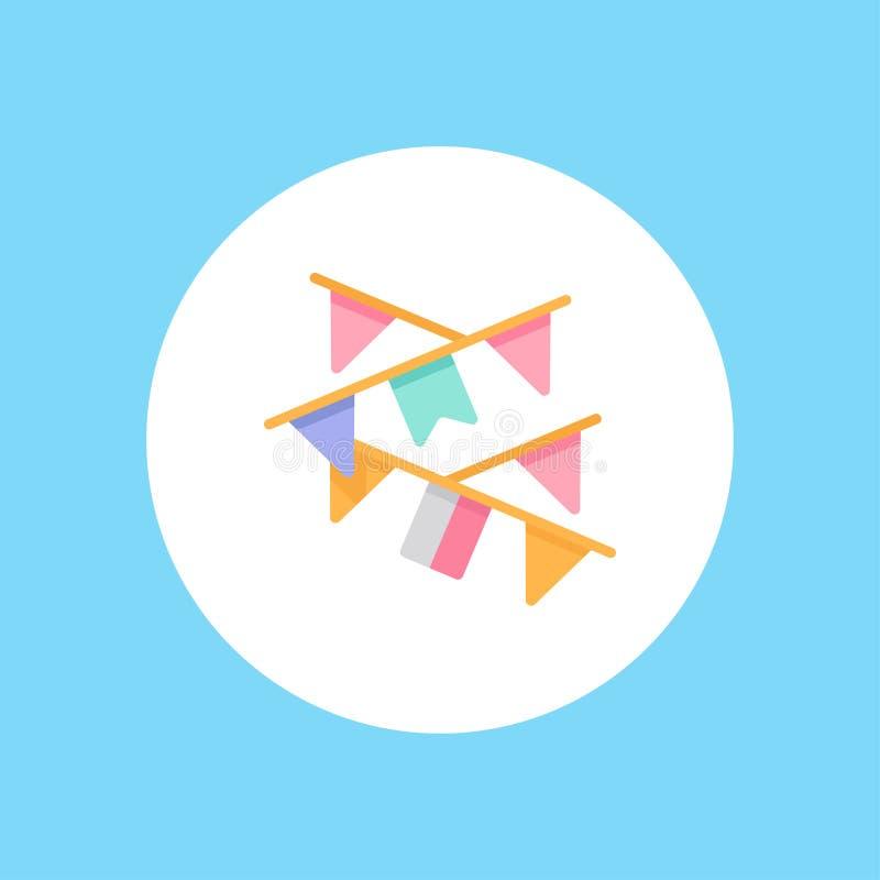 Symbol för tecken för girlandvektorsymbol stock illustrationer