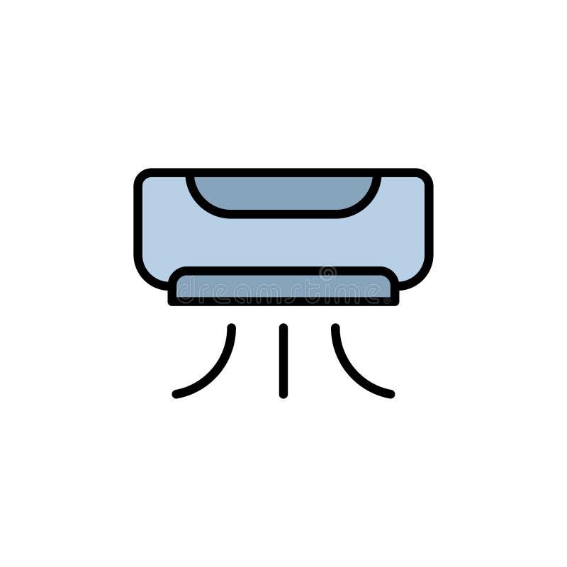 Symbol för tecken för luftkonditioneringsapparatvektorsymbol stock illustrationer