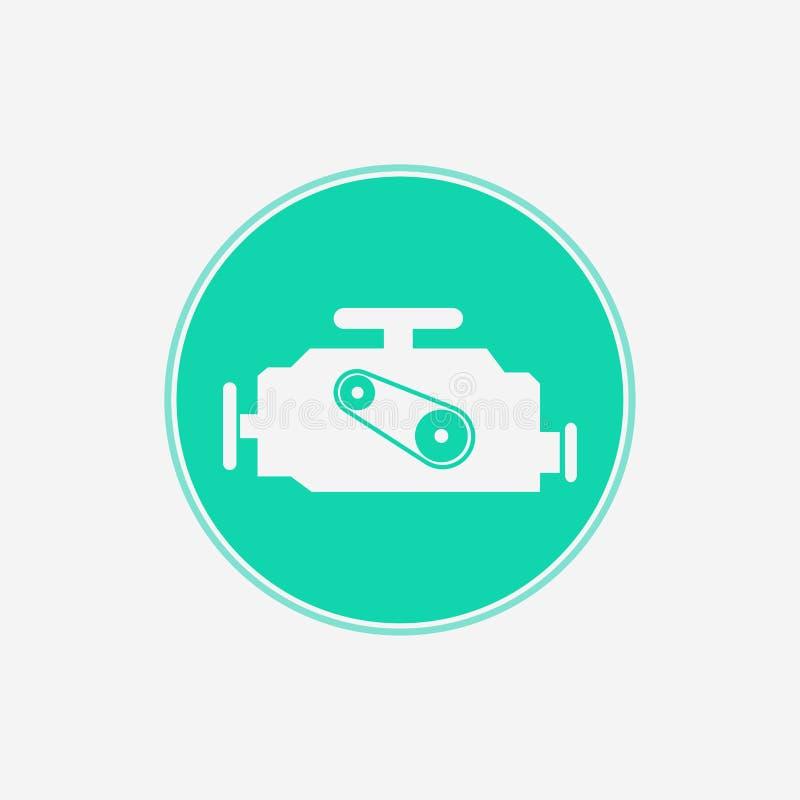 Symbol för tecken för motorvektorsymbol stock illustrationer