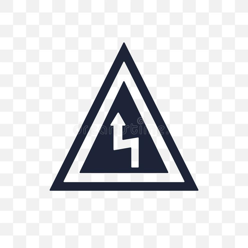 Symbol för tecken för omvänd krökning för rätt genomskinlig Rätten vänder om krökningsig stock illustrationer