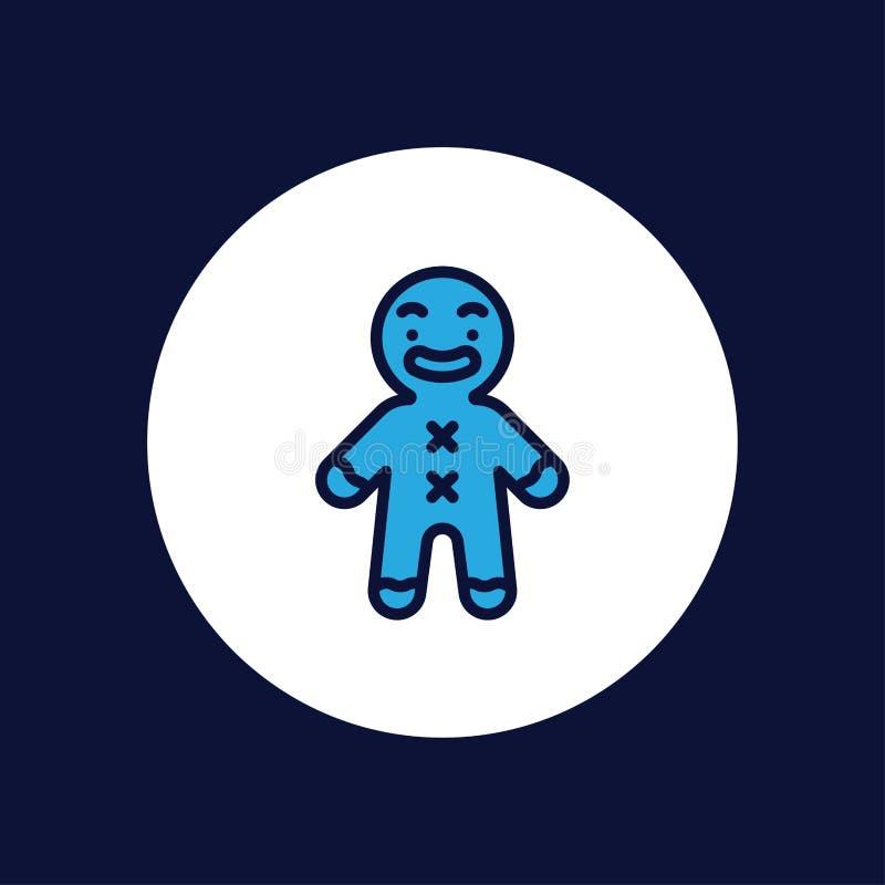 Symbol för tecken för pepparkakavektorsymbol royaltyfri illustrationer