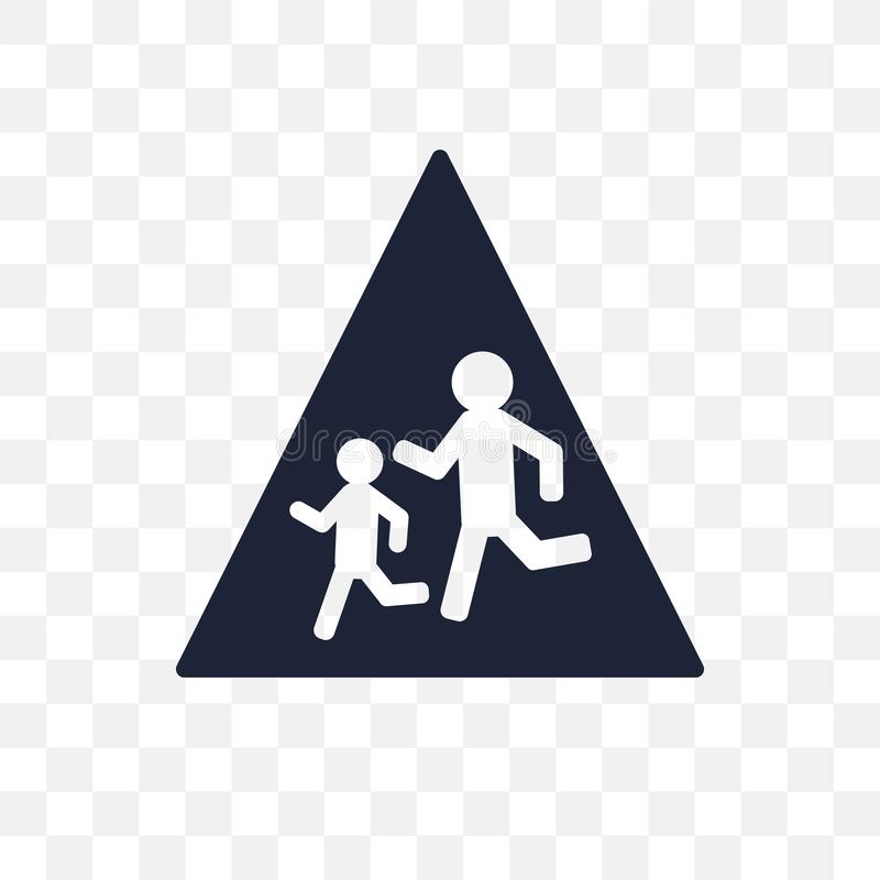 symbol för tecken för skola framåt genomskinlig för teckensymbol för skola framåt des vektor illustrationer