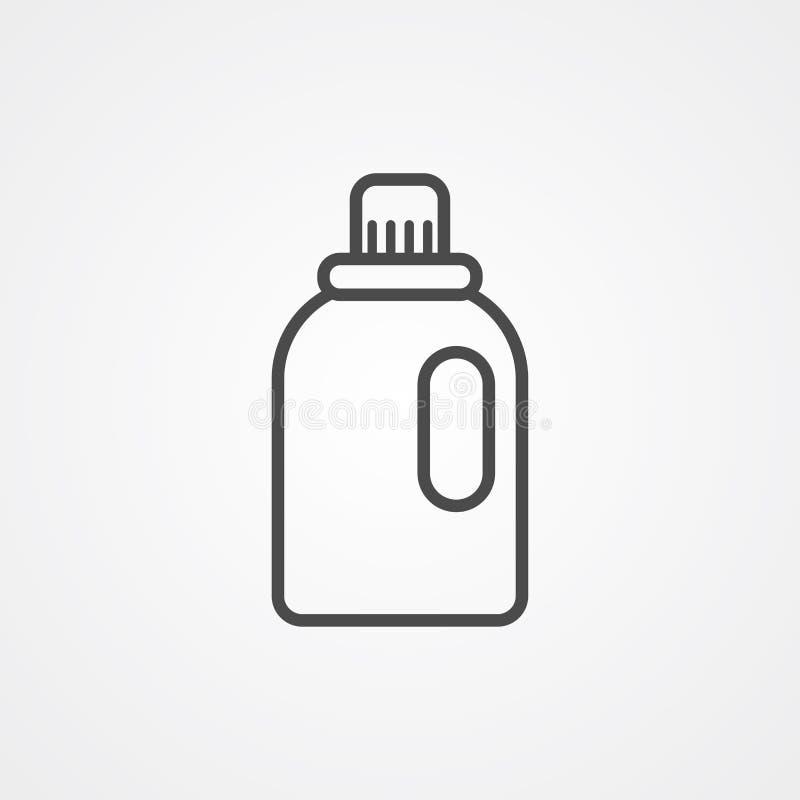 Symbol för tecken för Softenervektorsymbol royaltyfri illustrationer