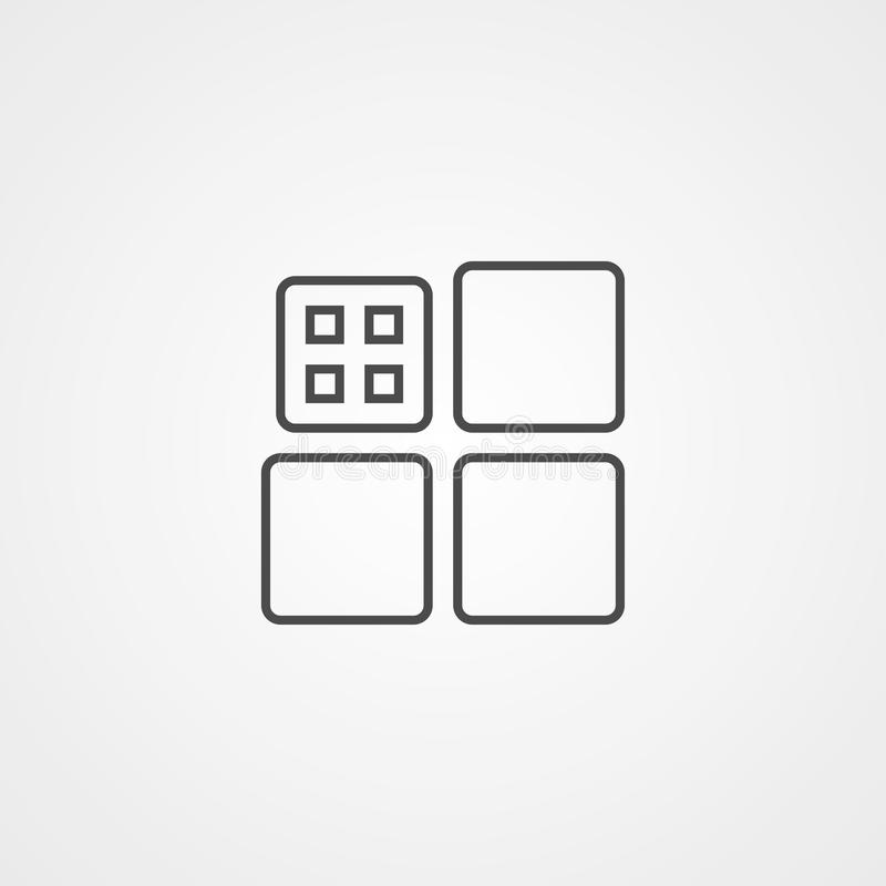 Symbol för tecken för tegelplattavektorsymbol stock illustrationer