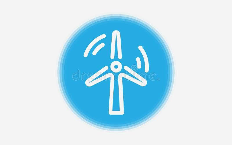 Symbol för tecken för väderkvarnvektorsymbol vektor illustrationer