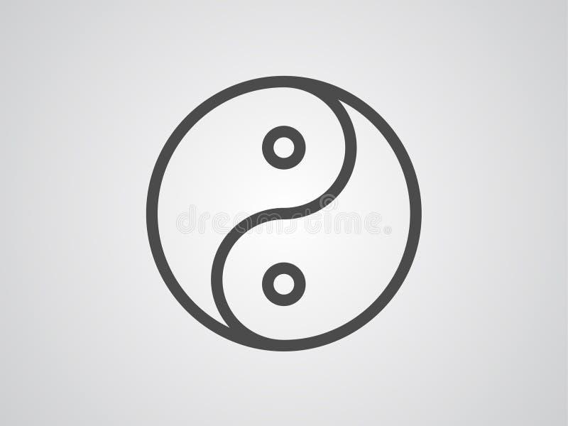 Symbol för tecken för Ying yang vektorsymbol stock illustrationer