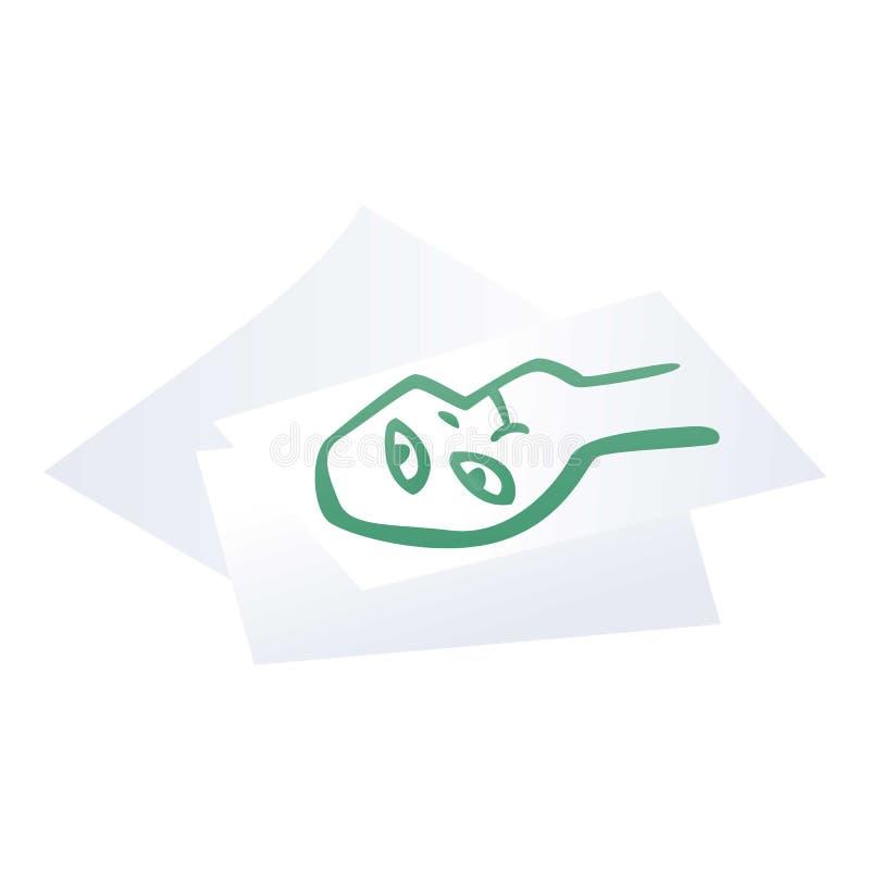 Symbol för teckningslegitimationshandlingar, isometrisk stil stock illustrationer