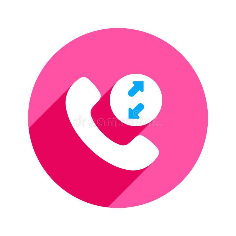 Symbol för telefon för telefon för pilappeller inkommande utgående royaltyfri illustrationer