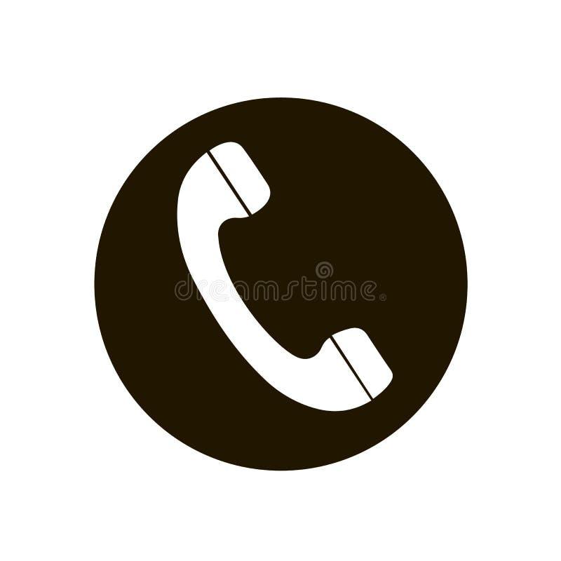 Symbol för telefonrecivervektor, bästa vektorsymbol för plan design Telefon i cirkel Telefonsymbol i plan stil på vit bakgrund Sy royaltyfri illustrationer