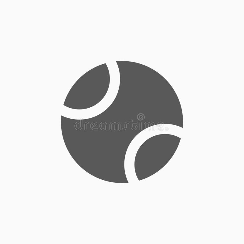 Symbol för tennisboll, sport, övning royaltyfri illustrationer