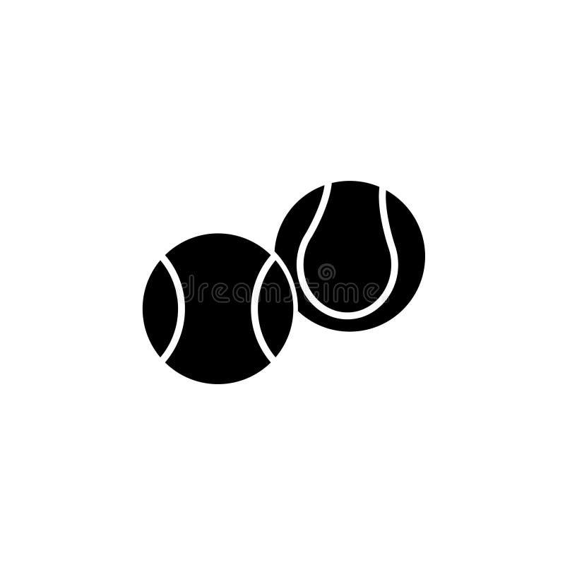Symbol för tennisboll vektor stock illustrationer