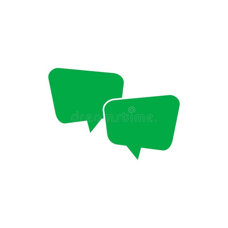 Symbol för textmeddelande, enkelt pratstundkommentartecken vektor illustrationer
