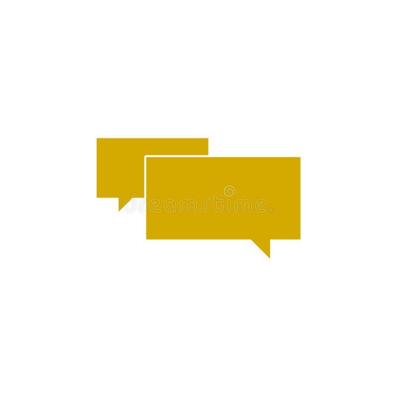 Symbol för textmeddelande, enkelt pratstundkommentartecken royaltyfri illustrationer