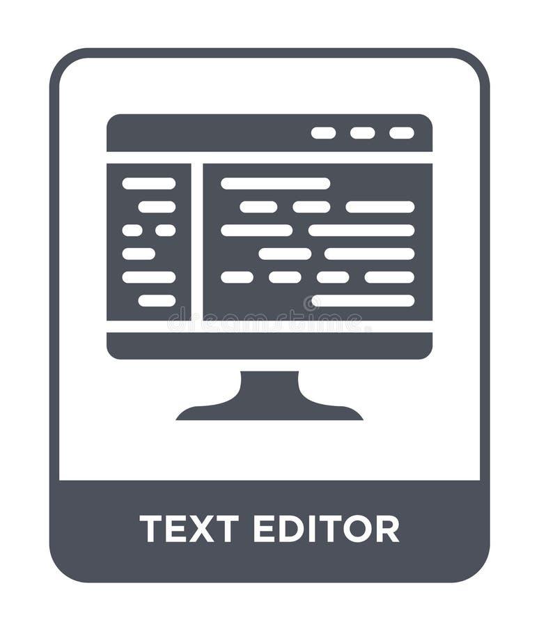 symbol för textredaktör i moderiktig designstil Symbol för textredaktör som isoleras på vit bakgrund modern symbol för vektor för stock illustrationer
