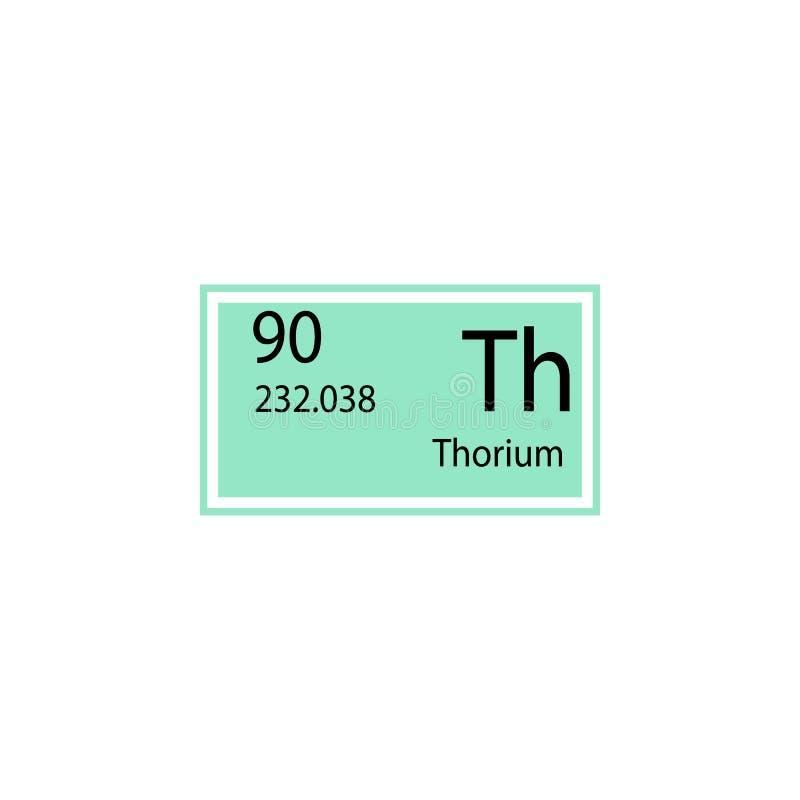 Symbol för thorium för beståndsdel för periodisk tabell Beståndsdel av den kemiska teckensymbolen Högvärdig kvalitets- symbol för vektor illustrationer