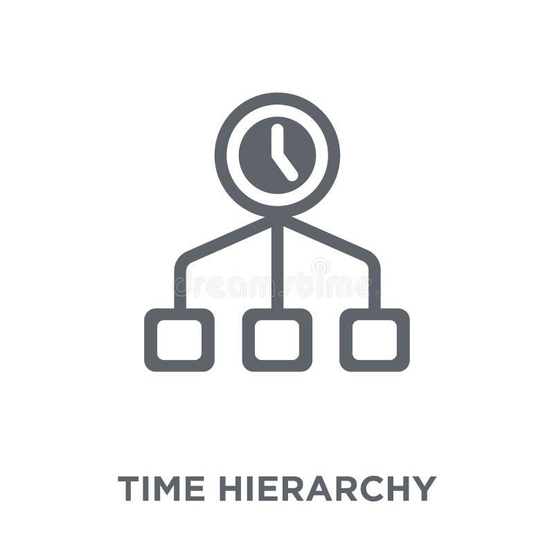 Symbol för Tid hierarki från produktivitetssamling stock illustrationer