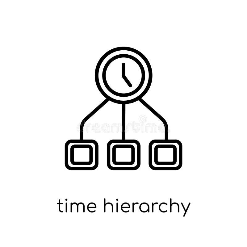 Symbol för Tid hierarki från produktivitetssamling royaltyfri illustrationer
