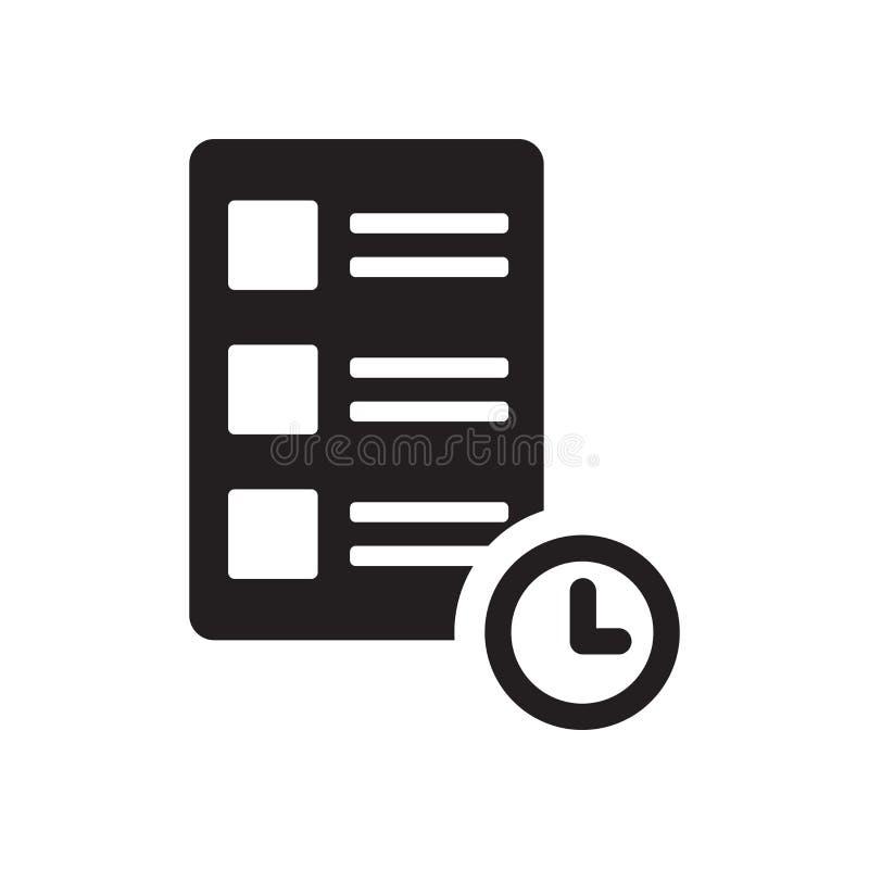 Symbol för Tid hierarki Moderiktigt begrepp för logo för Tid hierarki på vit vektor illustrationer