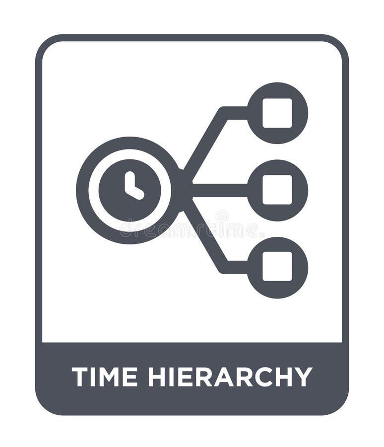 symbol för tidhierarki i moderiktig designstil symbol för tidhierarki som isoleras på vit bakgrund enkel symbol för vektor för ti stock illustrationer