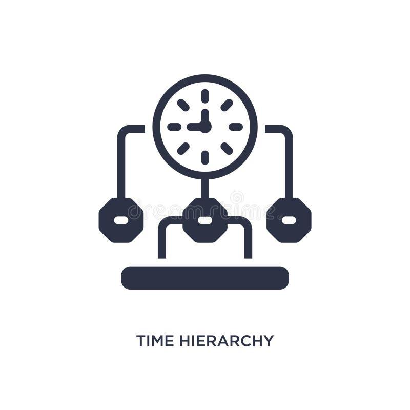 symbol för tidhierarki på vit bakgrund Enkel beståndsdelillustration från produktivitetsbegrepp stock illustrationer
