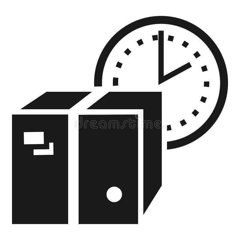 Symbol för tidmätarejordlottleverans, enkel stil stock illustrationer