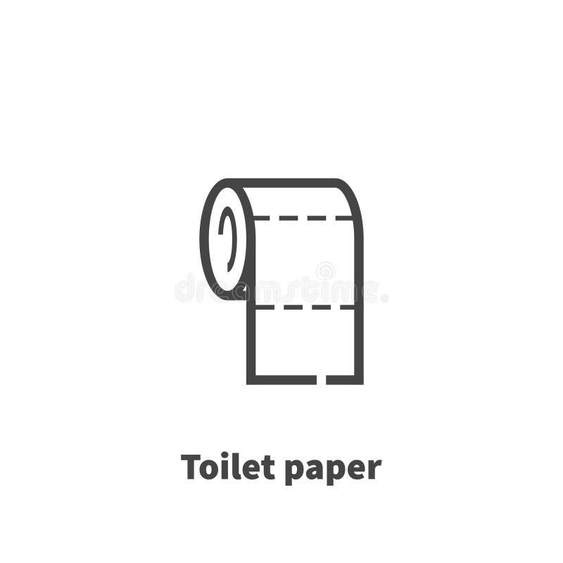 Symbol för toalettpapper, vektorsymbol stock illustrationer
