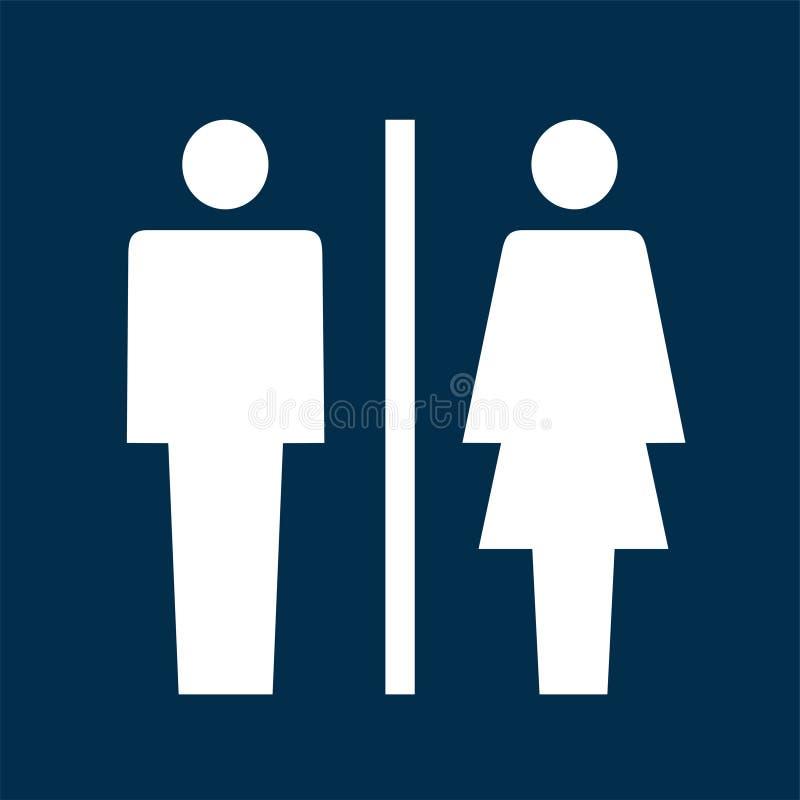 Symbol för toalettteckenvektor vektor illustrationer