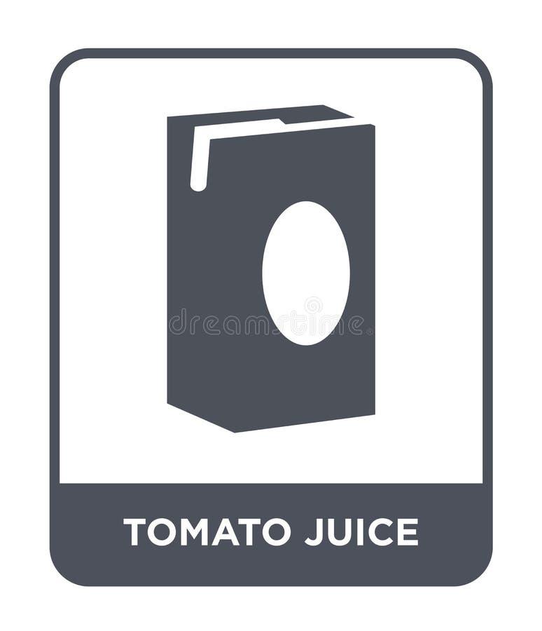 symbol för tomatfruktsaft i moderiktig designstil symbol för tomatfruktsaft som isoleras på vit bakgrund enkel symbol för vektor  stock illustrationer