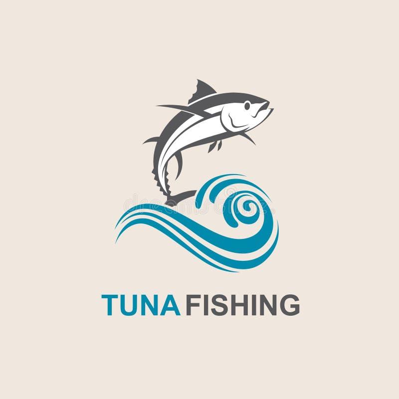 Symbol för tonfiskfisk royaltyfri illustrationer